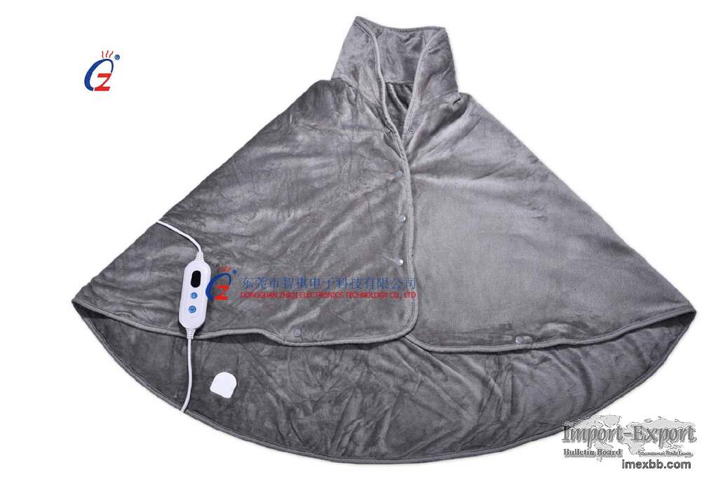 OEM electric heating cape 220-240v ,cosy fleece material of heating mantle