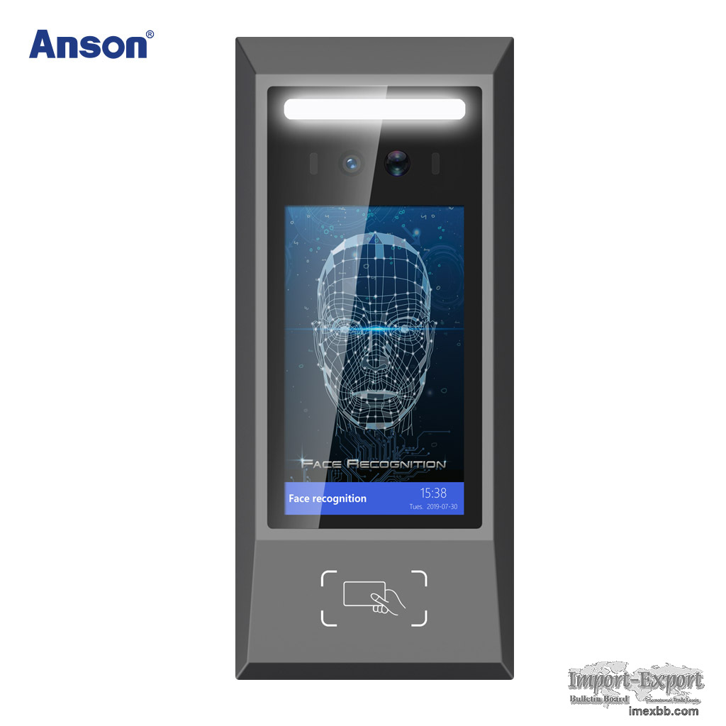 5inch 200w dual-lens live recognition face access control attendance device