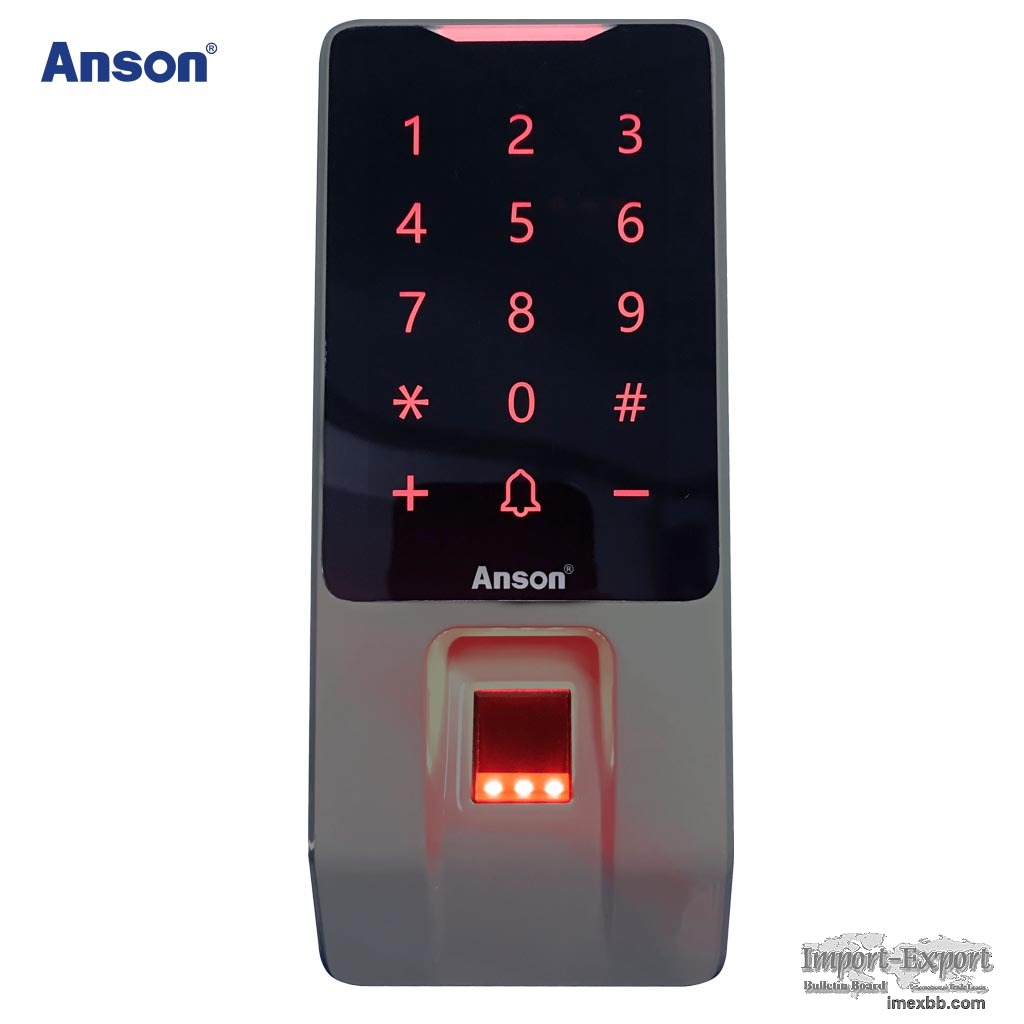 Fingerprint recognition access control and attendance device touch keypad