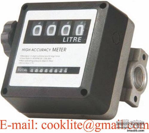 Debitmetru Mecanic Motorina cu Patru Cifre FM120 Ceas Flowmeter