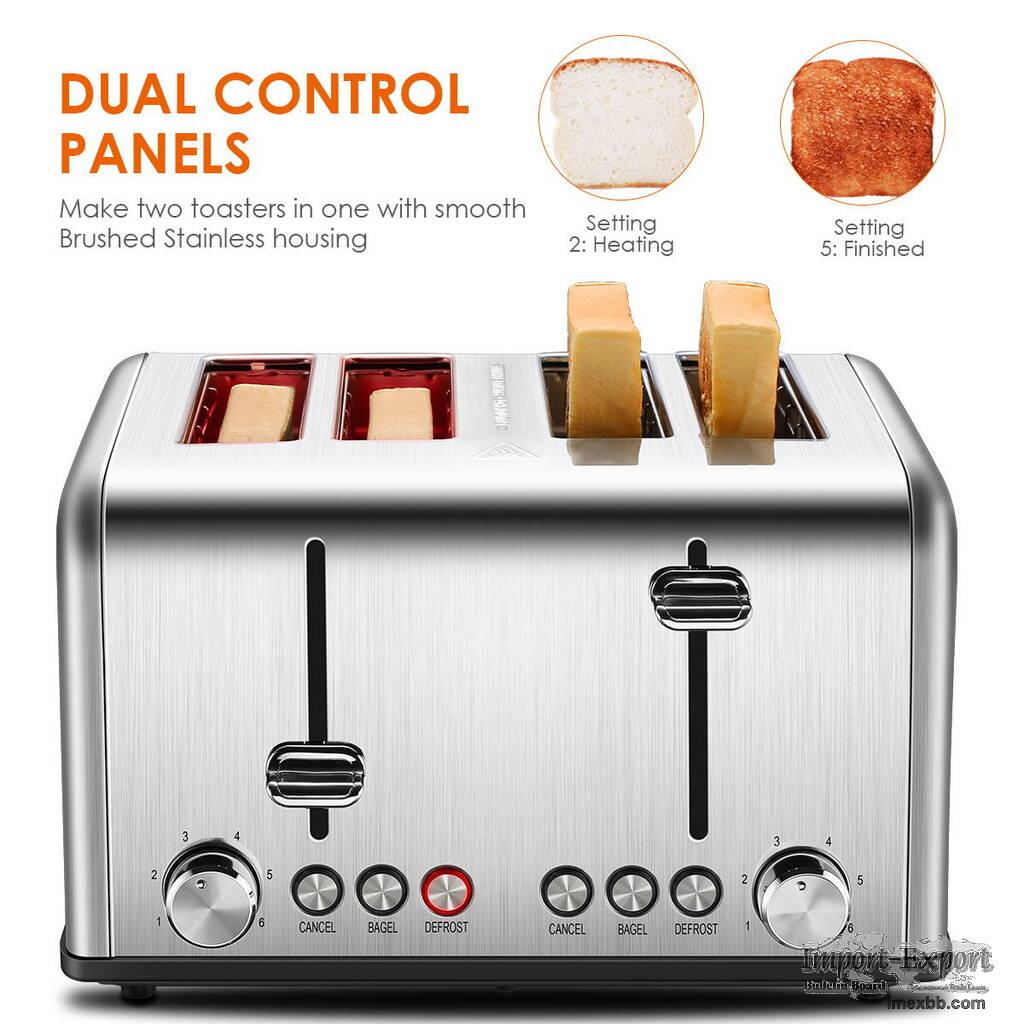 Stainless Steel 4 Slice Toaster ST026