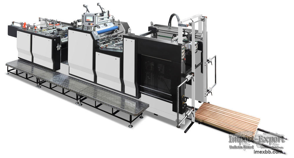 Automatic Laminating Machine Model YFMA-760L with side pull gauge and flail