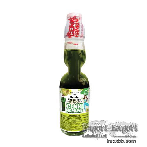 Matcha Green Tea Soda (HEALTHY   Genki  Ramune)