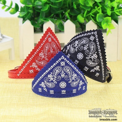 pet collar cat collar British style pet triangle scarf collar B7