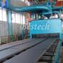 Steel Plate Roller Conveyor Shot Blasting Machine
