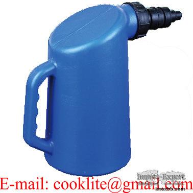 Batteriefüllflasche 2 liter, säure-, öl- und lösungsmittelbeständig