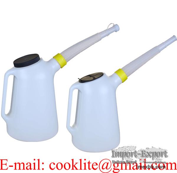 Einfüllkanne / Öl-messbecher 5L mit Deckel