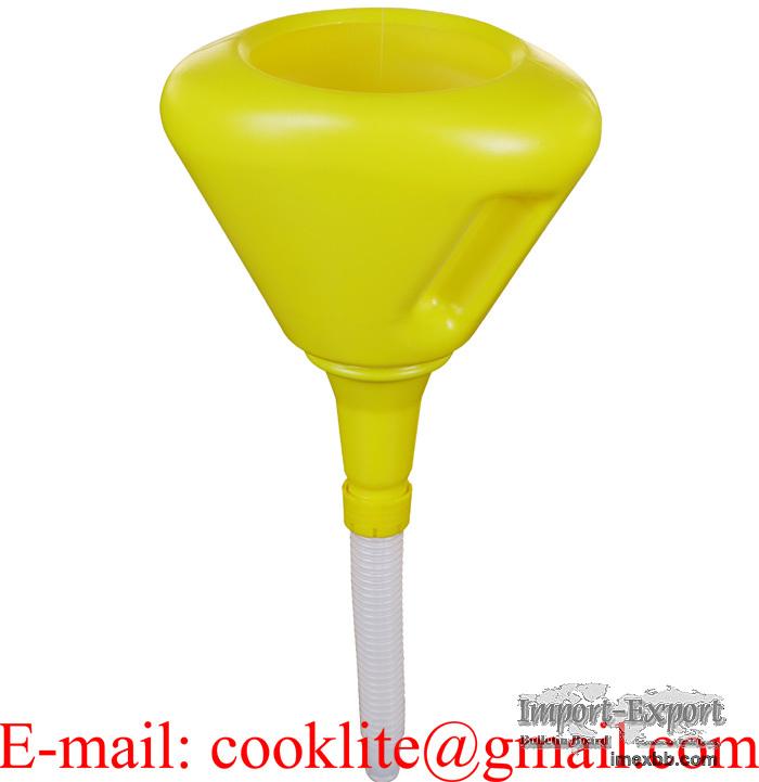 Bensintrakt med sil og skvulpekant Oljetrakt i polyetylen for brannfarlige