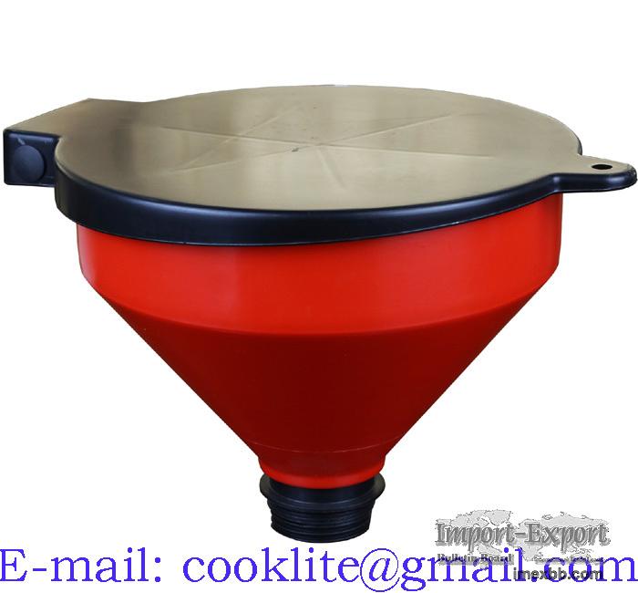 Kannellinen öljysuppilo tynnyrikierteellä / Barrel Funnel