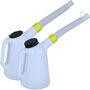 Plastikowy dzbanek z miarka oraz elastycznym lejkiem 1L