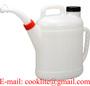 Polyethyleen maatkan / Gieter afsluitbaar 10 liter met tuit ook ADBlue