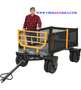 Bannon 3 in 1 Convertible Logging Wagon 1,800 Lb. Capacity, 36 Cu. Ft