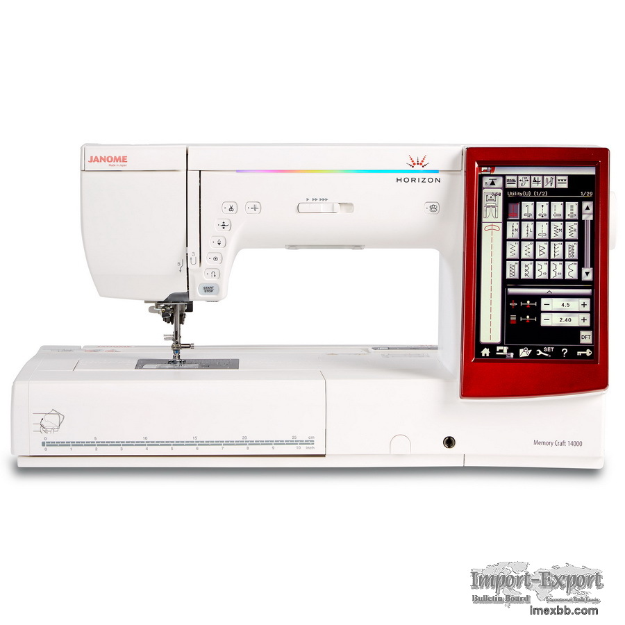Janome Horizon Memory Craft 14000 Sewing, Embroidery, and Quilting Machine