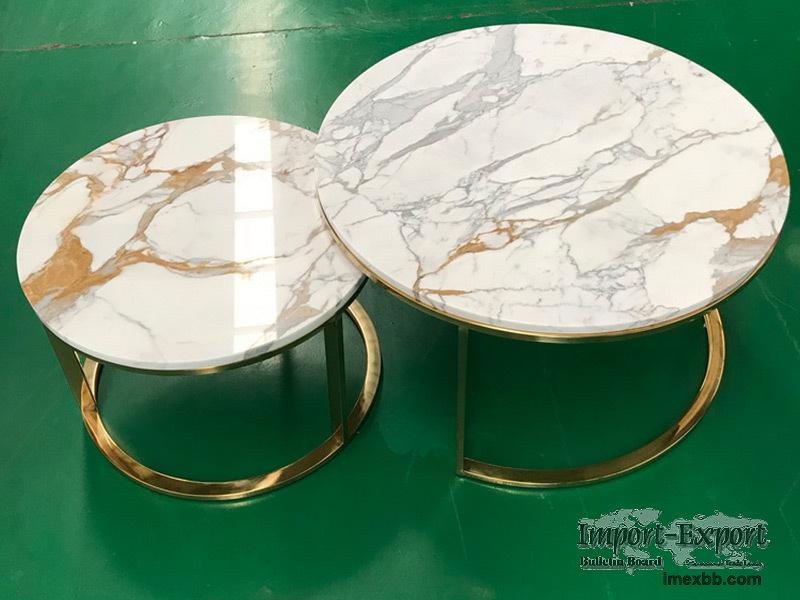 Side table top Unique shape, Calacatta