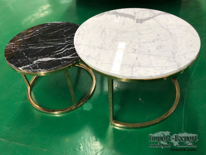 Side table top/End tabletop, Staturio, Black Marquina