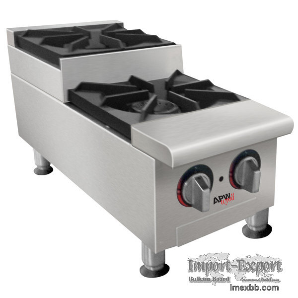 APW WYOTT GHPS-2I STEP-UP TWO BURNER COUNTERTOP RANGE
