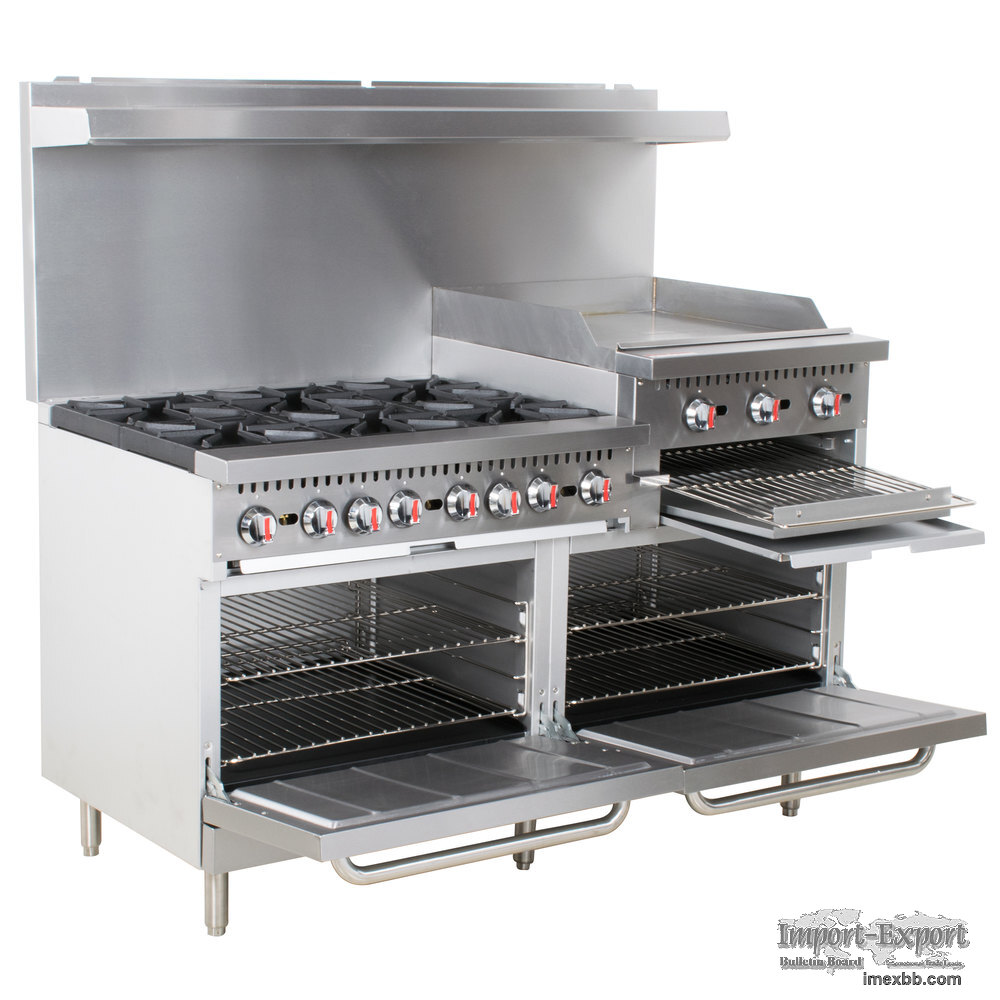 "COOKING PERFORMANCE GROUP S60-GS24-N NATURAL GAS 6 BURNER 60"" RANGE WITH 24"