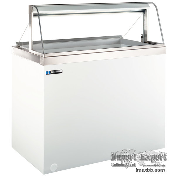 "MASTER-BILT DD-66CG 69"" CURVED GLASS ICE CREAM DIPPING CABINET"