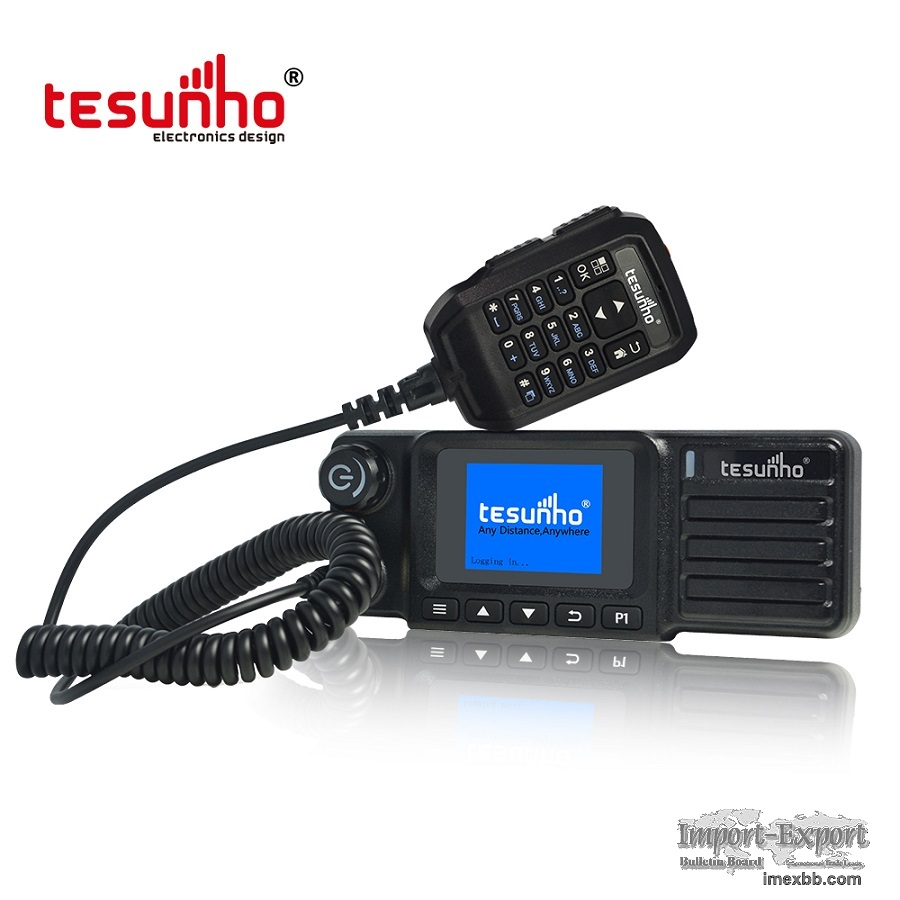 Tesunho TM990DD Vehicle Walkie Talkie 4G Real Ptt For Transporting Company