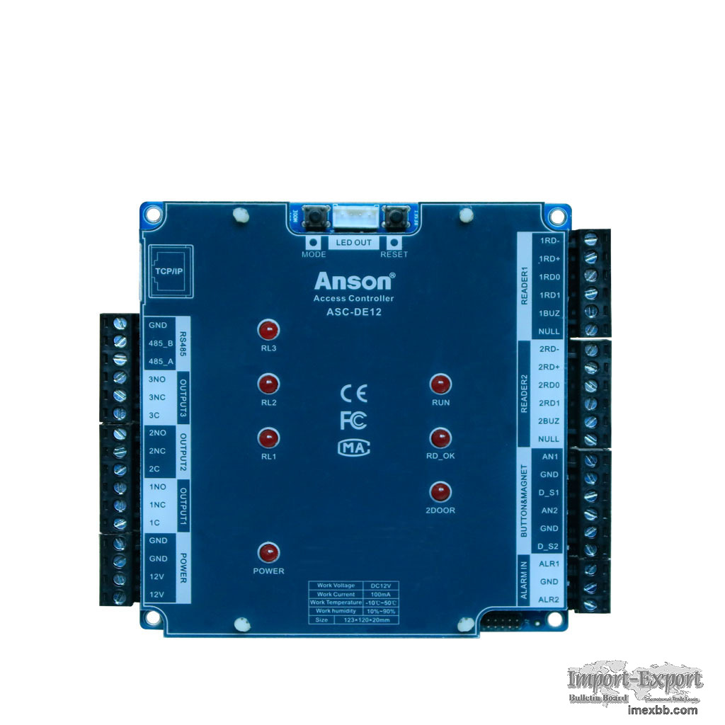 Maximum 4 doors access control board