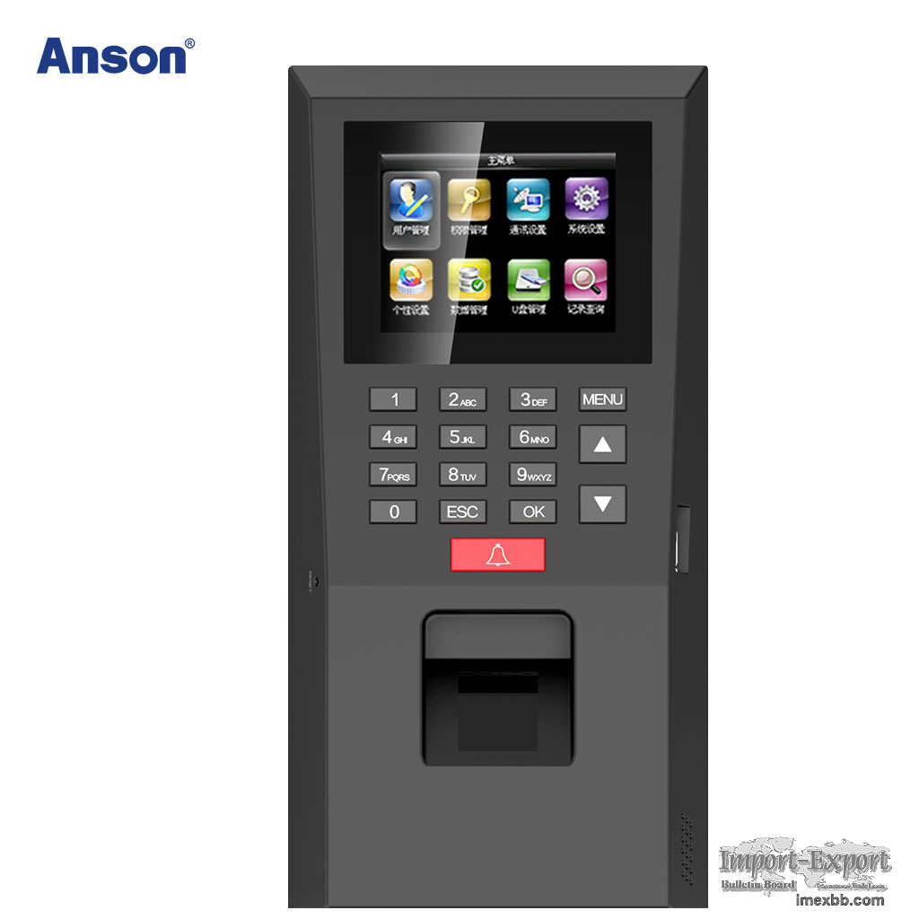 Stand Alone fingerprint access control and time attendance device
