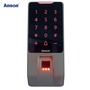 Touch keypad fingerprint recognition device security system