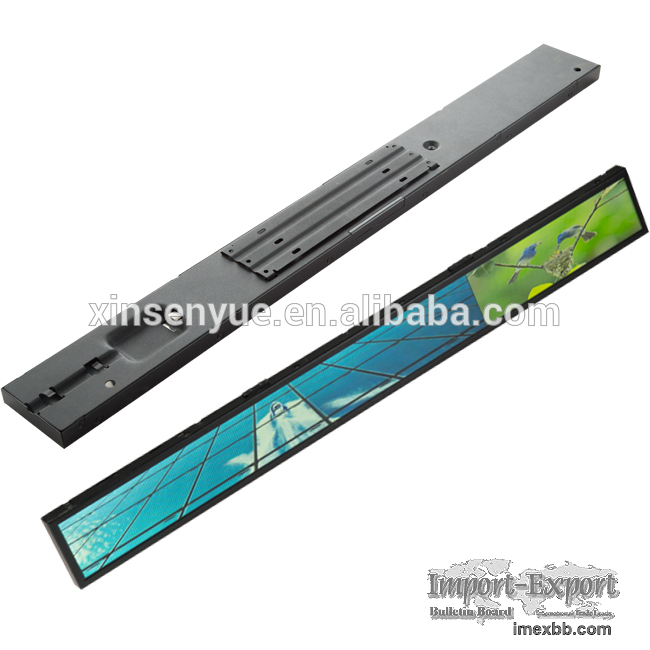 High resolution shelf edge lcd display with custom cut LCD Panels