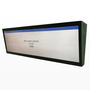 Double side ceiling mounted lcd  screen stretched lcd with andriod network