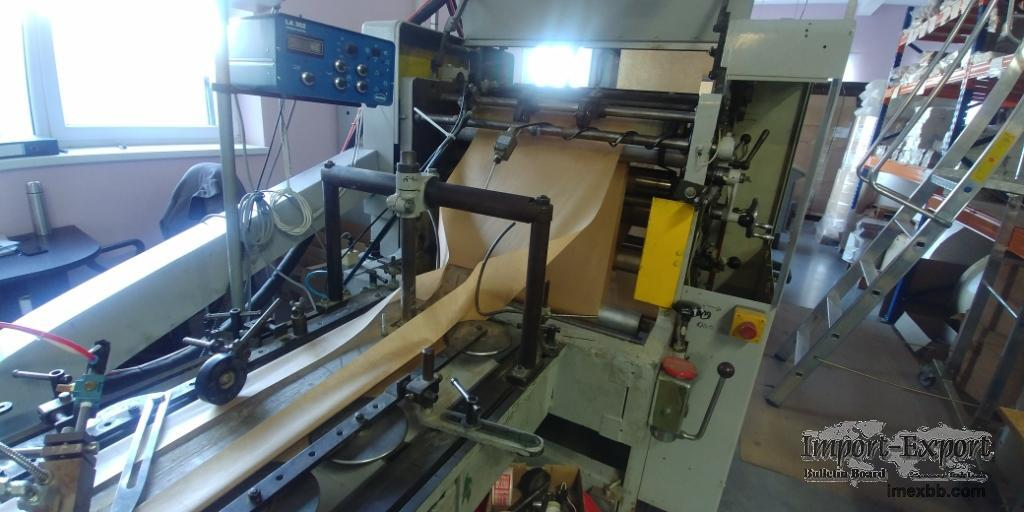 Flat/Satchel bag making machine with window and 4 color printer