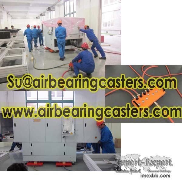 Air bearing castersis suitable for cleaning room and expensive floor