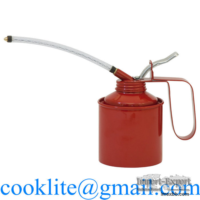 Metal Oil Can with Flexible Spout 500ml Hand Held Machine Oiler Oilcan