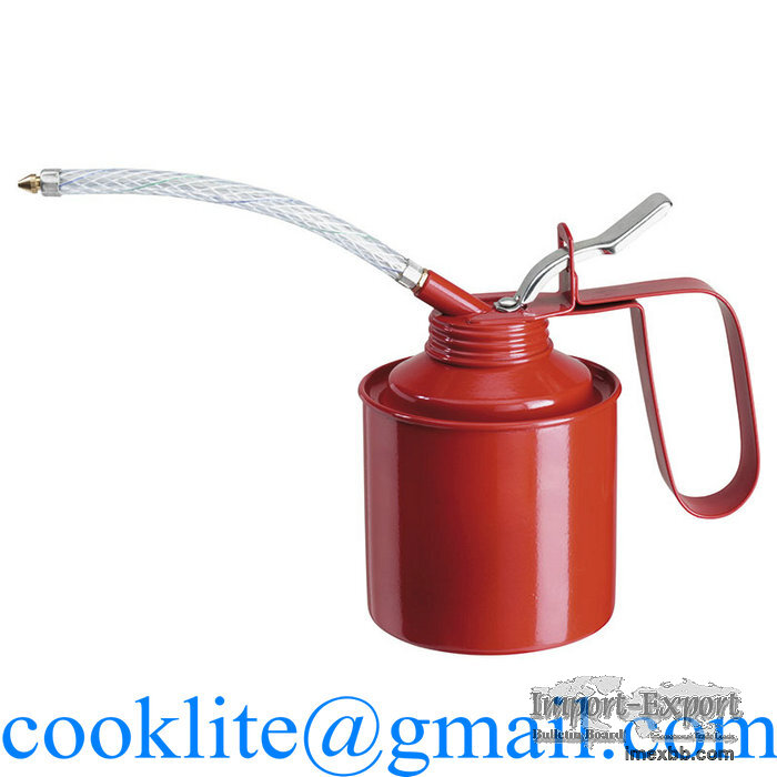 Lubricating Oil Can 350CC Metal Pump Oiler with Long Flexible Spout