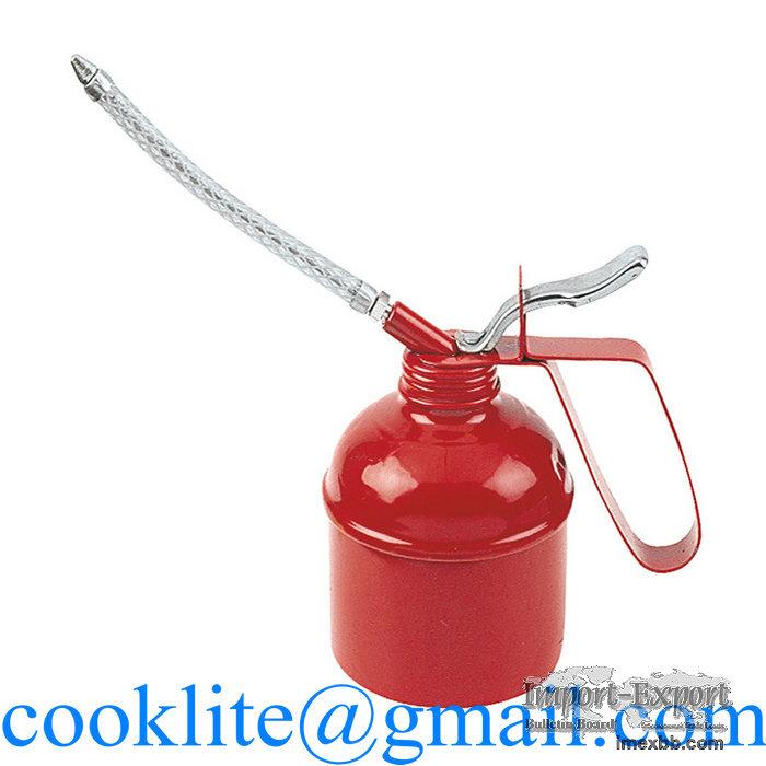High pressure Pump Oiler 300CC Oilcan Lubrication Oil Feed Can Steel Spray