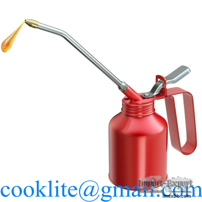 Metal Oiler Dispenser 250CC Hand Held Steel Lubricant Oil Can Hydraulic Fin