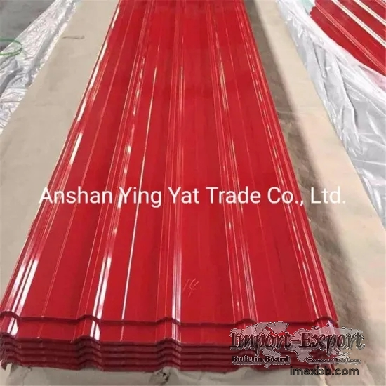 colour coated corrugated steel plate
