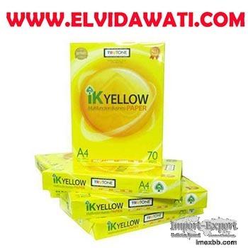 IK Yellow A4 Copy Paper 70gsm,75gsm,80gsm