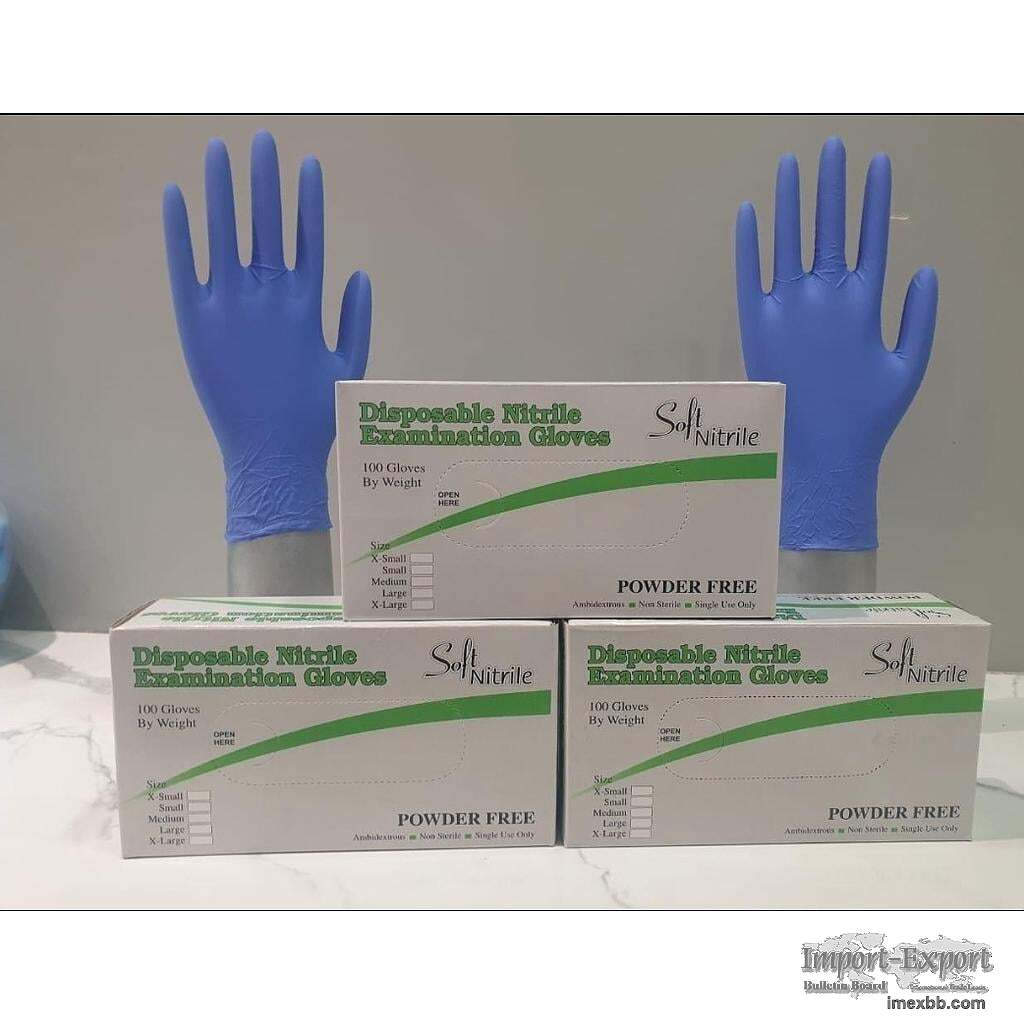 Quality Disposable Nitrile Gloves Powder Free Examination Gloves For Sale