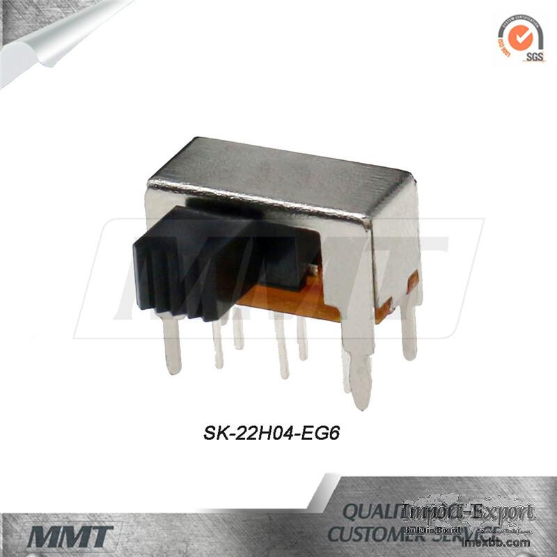 Slide Switch Sk-22h04-Eg6 Horizontal Slide Switch 2p2t DC Slide Switch