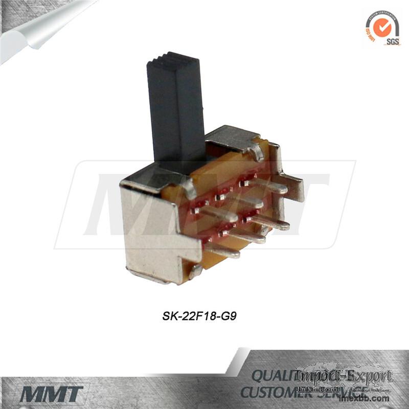 Slide Switch Sk-22f18-G9 Horizontal Slide Switch 2p2t DC Slide Switch