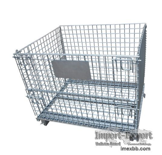Steel Foldable Wire Mesh Container