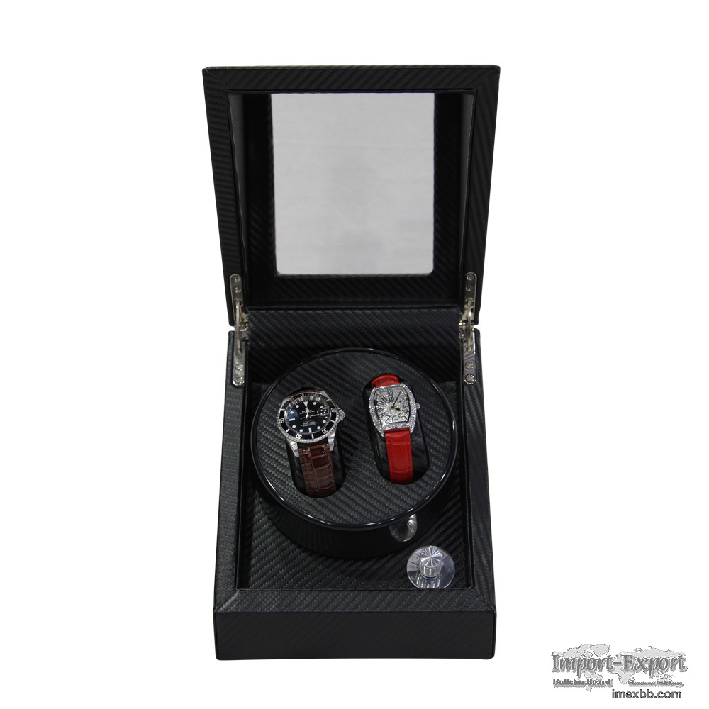 2+3 Automatic Motor Carbon Fiber Leather Watch Winder