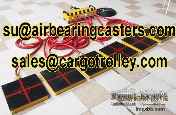 Air caster rigging systems applications and introduction