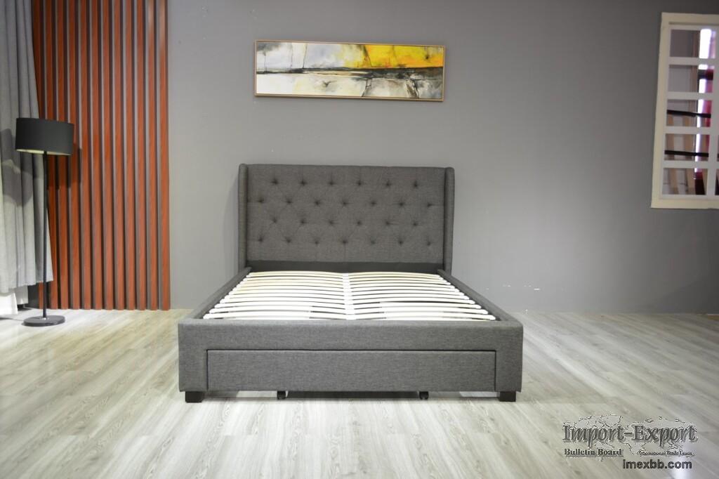 Modern Bed Storge Bed Adult Bed Home Furniture Set Double Bed Flat Bed Stor