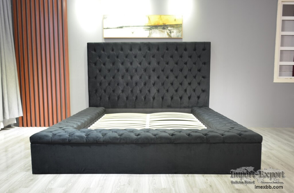 Hot Sell Modern Bed with Storage Box Non-Folding Bed Non-Adjustable Height