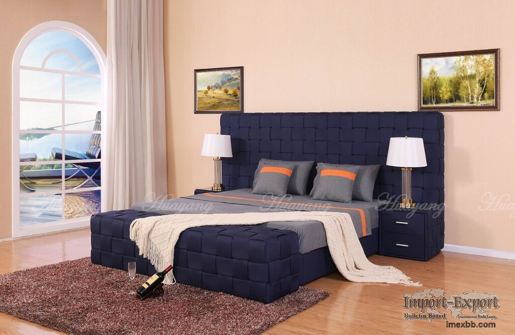 Adult Bed Big Size Fabric Bed Flat Bed Furniture