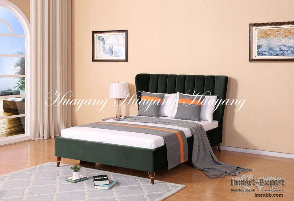 Modern Luxury Upholstery Bed Bedroom Furniture