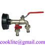 """Komplet dvojna pipa 1/2"""" za IBC cisterno - Reducir (adapter, pokrov) +pipa"""