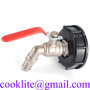 Garden Hose Plug Outdoor Bib Tap With Lever Type Water Valve and IBC Adapte