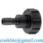 IBC adapter 60x6 med Ø19mm slangestuds - adaptertilslutning til palletank
