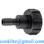 "Adaptador para válvula IBC S60x6 de media vuelta de 2"" de diámetro para tam"